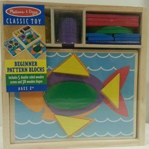 NWT MELISSA & DOUG BEGINNER PATTERN BLOCKS